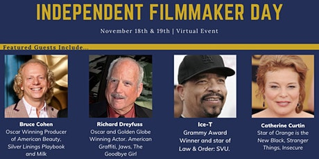 Independent Filmmaker Day on Zoom - Richard Dreyfuss, Ice-T, and More! tickets