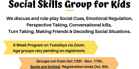 Social Skills Group for Kids tickets