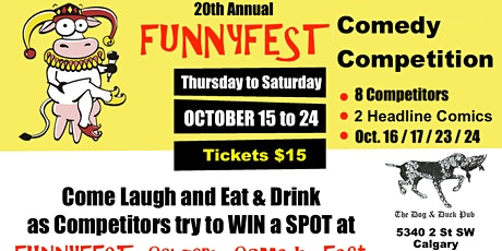 Comedy Competition - 10 Comics: 8 Competitors with 2 Headline Comedians billets