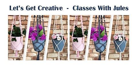 Macrame Hanging Pot Planter Class - Morning tickets