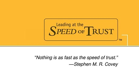 Book Review & Discussion : The SPEED of Trust tickets