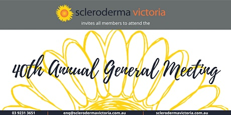 Scleroderma Victoria's 40th Annual General Meeting tickets
