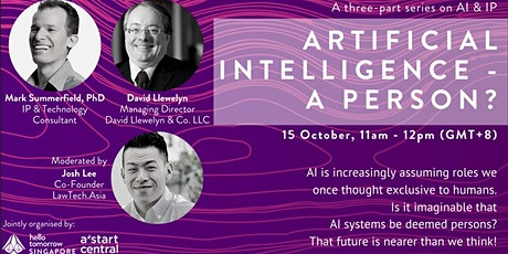 AI Series: Artificial Intelligence - A Person? tickets