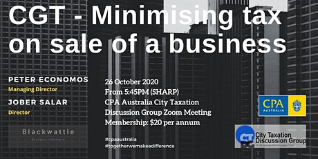 CTDG October 2nd Event - CGT – Minimising tax on the sale of a business tickets