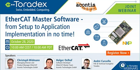 EtherCAT Master Software - from Setup to Application Implementation tickets