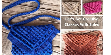 Macrame Clutch Class - includes 2 classes (Sat & Sunday 7th & 8th Nov) tickets
