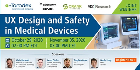 UX Design and Safety in Medical Devices tickets