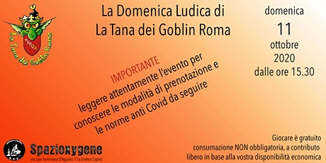LA DOMENICA LUDICA DI TDGROMA - 11 ottobre biglietti