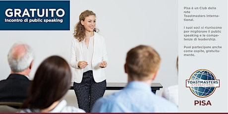 Incontro gratuito di Public speaking Pisa: migliorare a parlare in pubblico biglietti