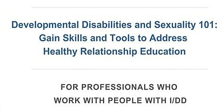 Developmental NDIS Australia and Sexuality 101 tickets