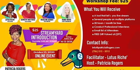 Streamyard Introduction tickets