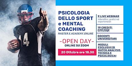 OPEN DAY Master online di Psicologia dello Sport e Mental Coaching biglietti