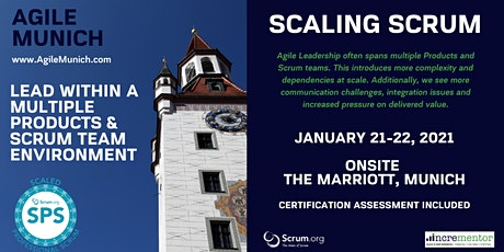 Agile Munich | Certified Training | Scaled Professional Scrum (SPS) tickets