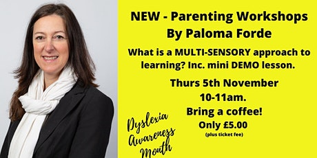What is a Multi-sensory approach to learning? Including mini-demo lesson. tickets