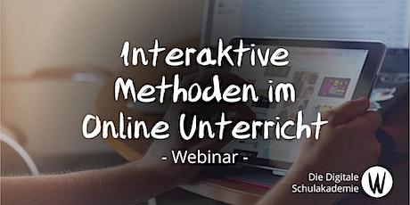 Interaktive Methoden und Tools im Online Unterricht einbinden Tickets