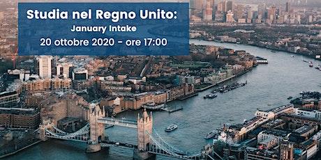 Studia nel Regno Unito: January Intake! biglietti