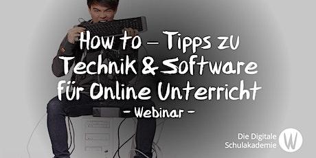 How to – Tipps zu Technik & Software für  Online (live) Unterricht Tickets