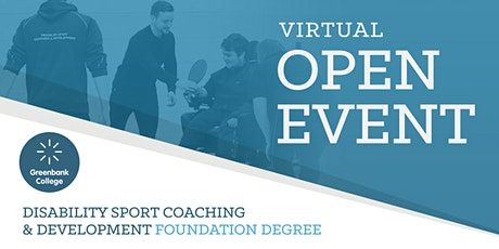 HE Disability Sport Coaching & Development FD Virtual Open Event tickets
