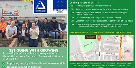 Get going with growing -allotment and job support tickets