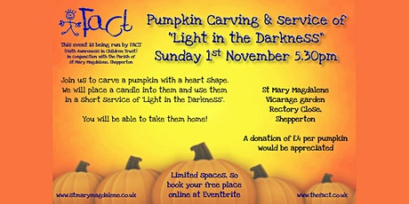 Pumpkin carving and service of light in the darkne tickets