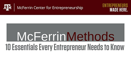 McFerrin Methods: 10 Essentials Every Entrepreneur Needs to Know tickets