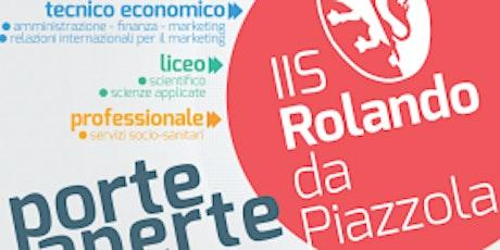 OPEN DAY LICEO - Scuola aperta  LICEO SCIENTIFICO al Rolando da Piazzola biglietti