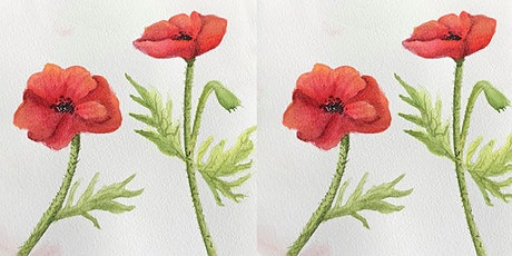 Easely Does It - Poppy Watercolour Workshop - With Michelle tickets