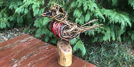 Natural Christmas - Willow robin sculpture and log snowmen - 2 day course tickets