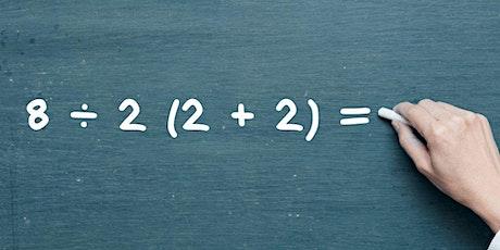 Free online Mathematics in English, IM 6 – 8 tickets