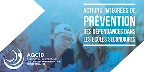 3e cohorte| Formation gestionnaires : Prévention des dépendances billets