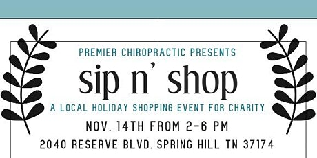 Sip and Shop Charity Event tickets