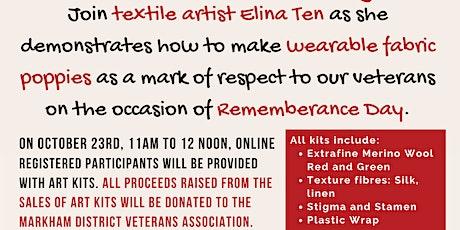 Textile Art, Poppy Making with Elina Ten tickets