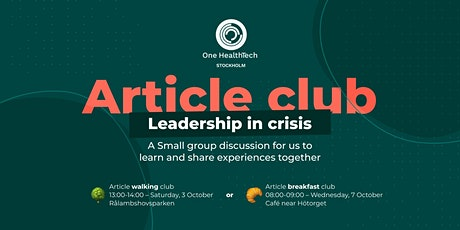OHT Stockholm article club: leadership in crisis tickets