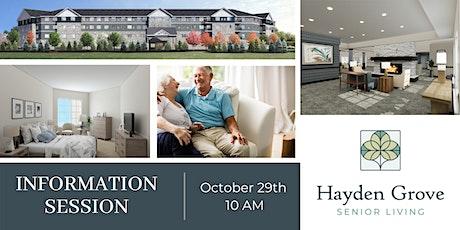 Hayden Grove Senior Living Info Session tickets
