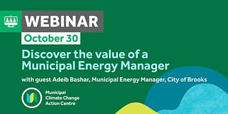 Discover the value of a Municipal Energy Manager with Adeib Bashar tickets