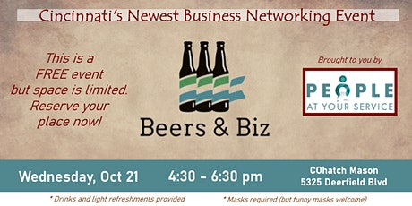 Beers and Biz  -  People At Your Service Oct Networking Event tickets