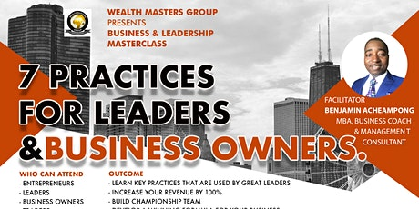 7Practices for Leaders and Business Owners tickets