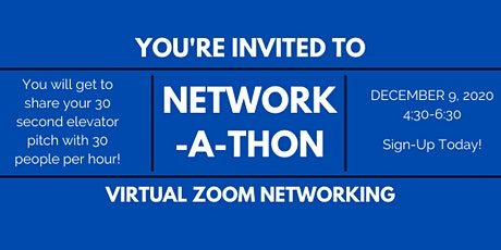 Network-A-Thon 2020/21 Networking Series (December 2020 Event) tickets