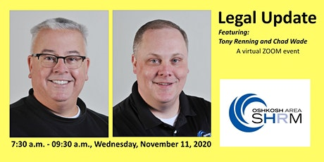 November 2020 Oshkosh Area SHRM Chapter Meeting: Legal Update tickets