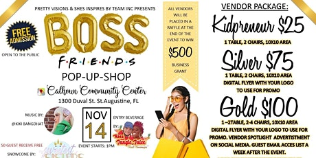 Boss Friends POP UP SHOP tickets