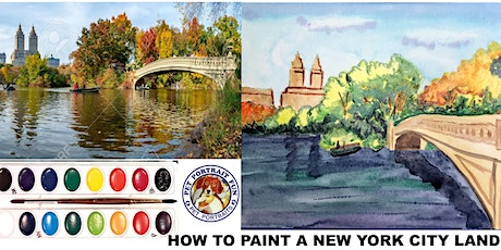 HOW TO WATERCOLOR - New York City Landscape tickets