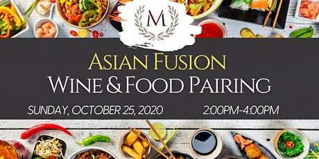 Asian Fusion Wine & Food Pairing at Morais Vineyards tickets