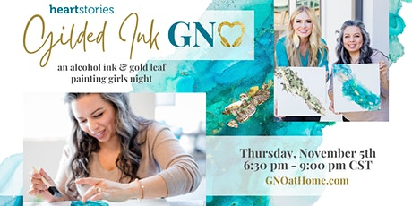 Gilded Ink GNO ~  an alcohol ink & gold leaf painting girls night tickets