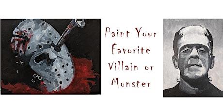 Paint a Monster or Villain tickets