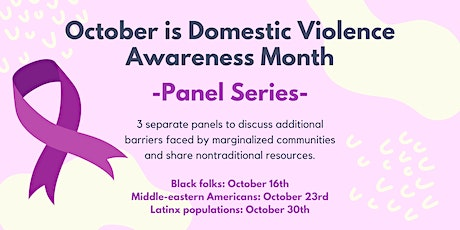 Domestic Violence Awareness Month Panel Series tickets