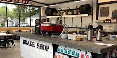 Outdoor Yoga and coffee (or juice) @ Upshot Coffee Brake Shop tickets