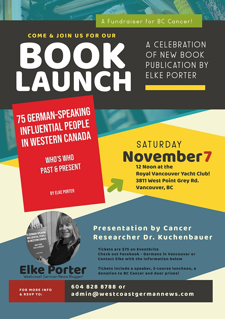 Book Launch & Benefit for BC Cancer image