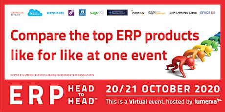 ERP HEADtoHEAD™ Virtual Event - Compare the leading ERP software solutions tickets