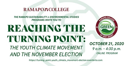 Reaching the Turning Point:  The Youth Climate Movement and Our Election tickets