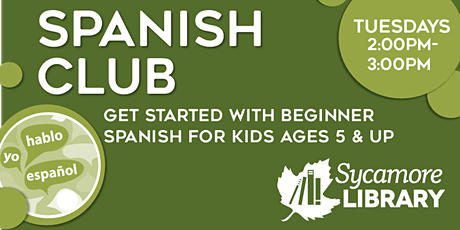 Spanish Club for Elementary Students:  Conjugating Verbs tickets